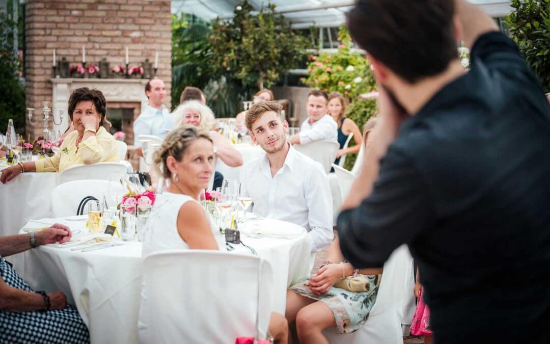 Zauberer zur Hochzeit