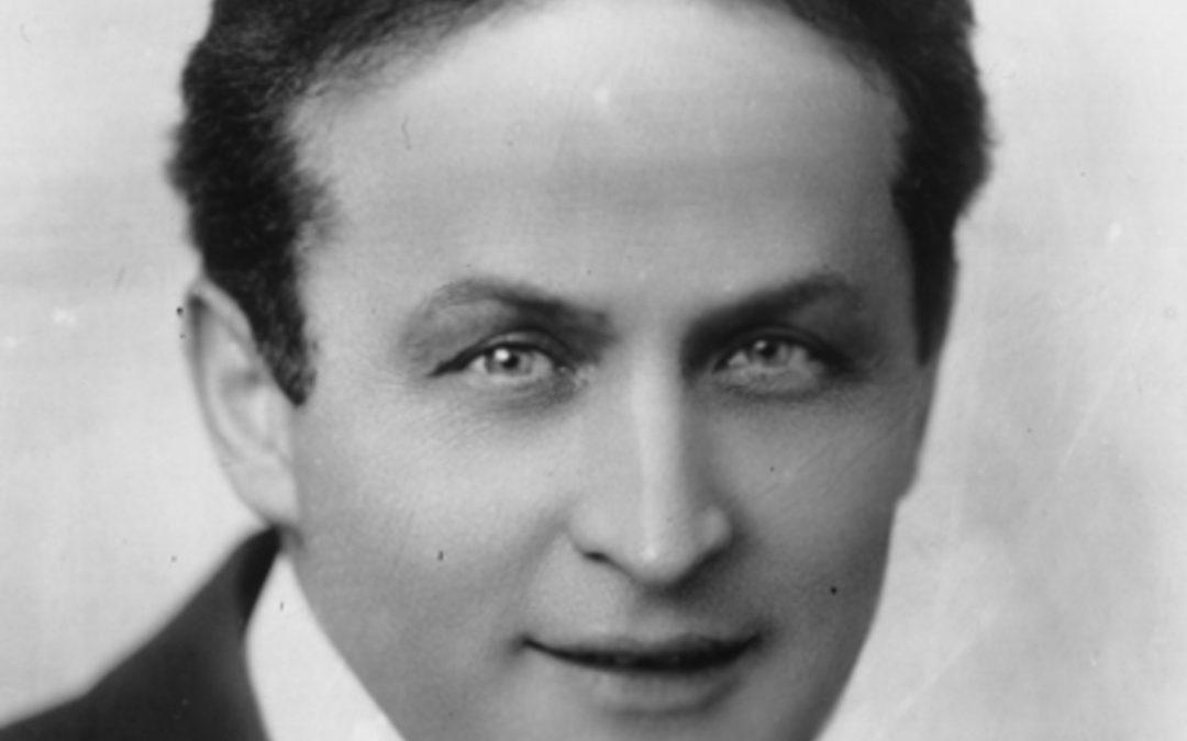 Zauberer und Entfesslungskünstler Harry Houdini