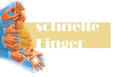 Zauberer hat schnelle Finger